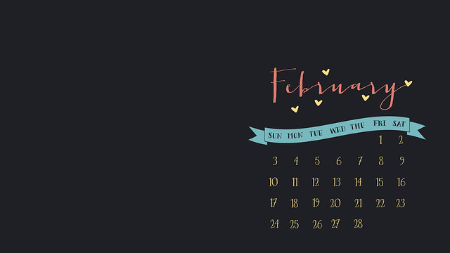 feb 2013 desktop calendar