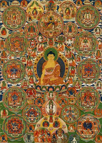 013-Bhutanese painted complete mandala, 19th century, Seula Gonpa, Punakha, Bhutan-Wikimedia Commons
