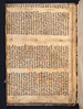 Manuscript fragment pastedown in Psalterium [Latin and German]