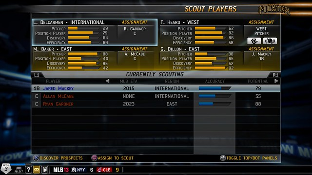 MLB 13 The Show Franchise Mode