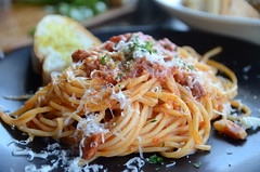 DOP Special in support of the People of Amatrice - Spaghetti Amatriciana AUD23 - DOC Espresso, Carlton