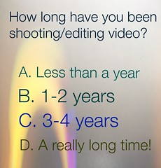How long have you been shooting video?
