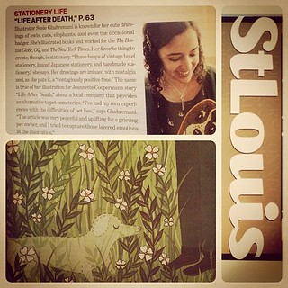 my illustration and a profile of me and my work in the latest issue of St Louis Magazine! illustration about pet loss. check it out if in the area.