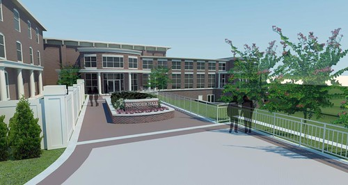 Nininger Bowman Plaza Entrance Rendering