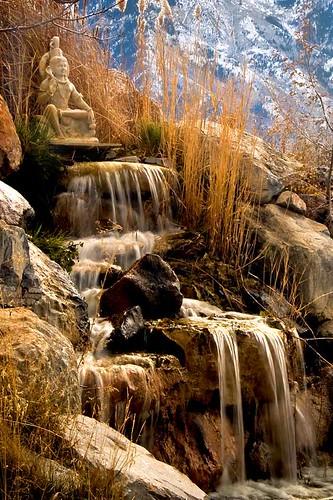 water statue utah waterfall krishna spanishfork blinkagain