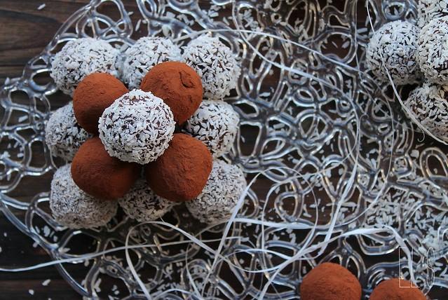 Truffes au chocolat à la crème de noix de coco