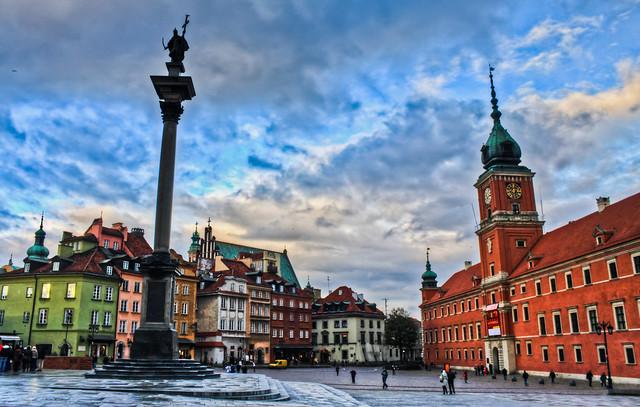 0323 - Poland, Warsaw, Plac Zamkowy W Warszawie HDR