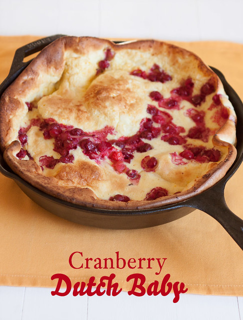 Cranberry Dutch Baby Pancake
