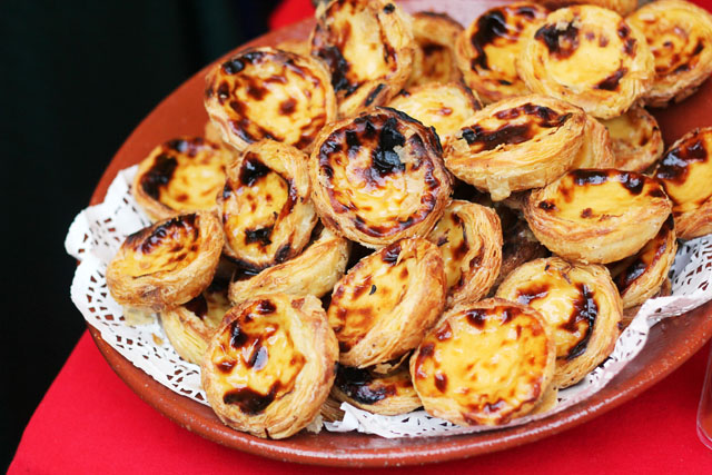 Portuguese custard cakes at Borough Market