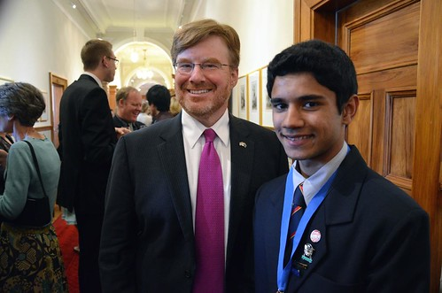 Me and Sohail after the award ceremony. Photo credit US Embassy, Wellington.