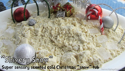 Shivery Snow Sensory Tub (Photo from Learn with Play at Home)