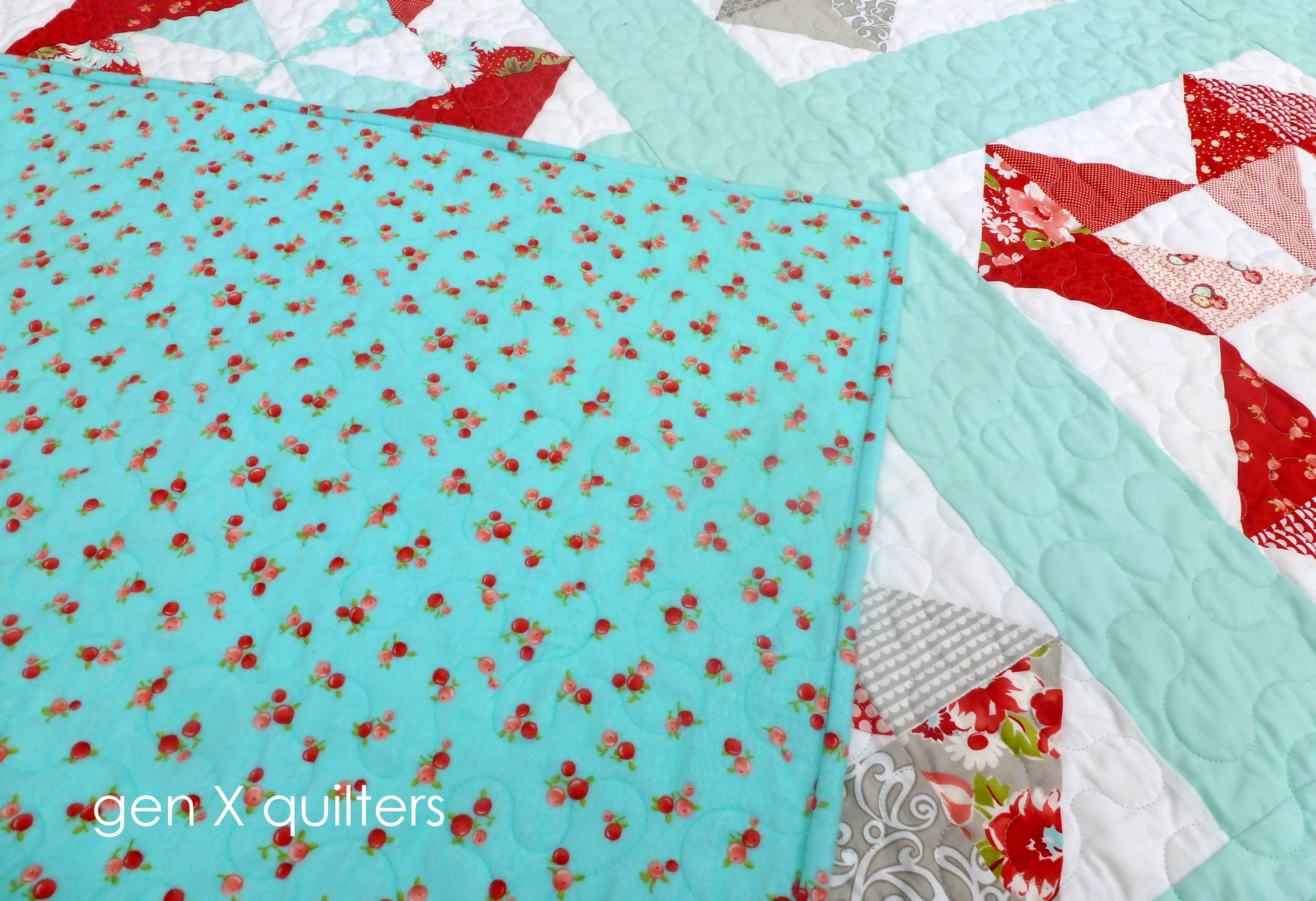 Ruby quilt flannel back