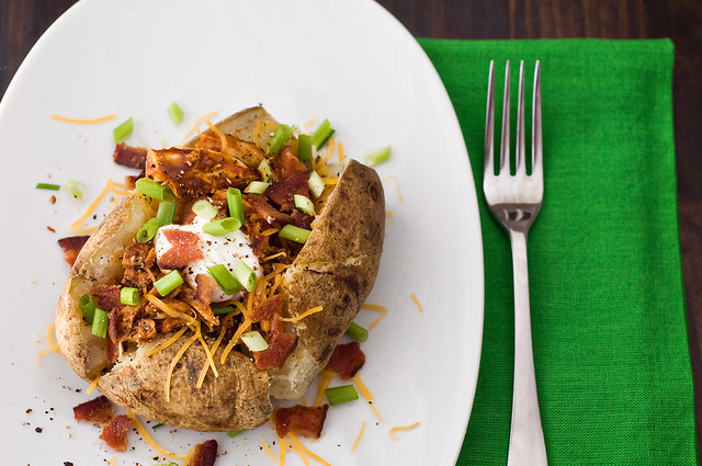 BBQ Chicken Loaded Baked Potato