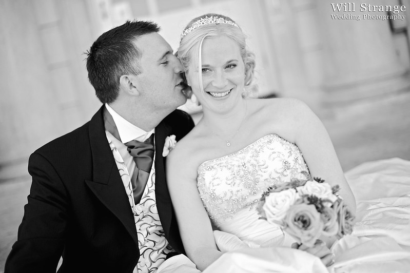 Simon and Claire, bride and groom at Buxted Park