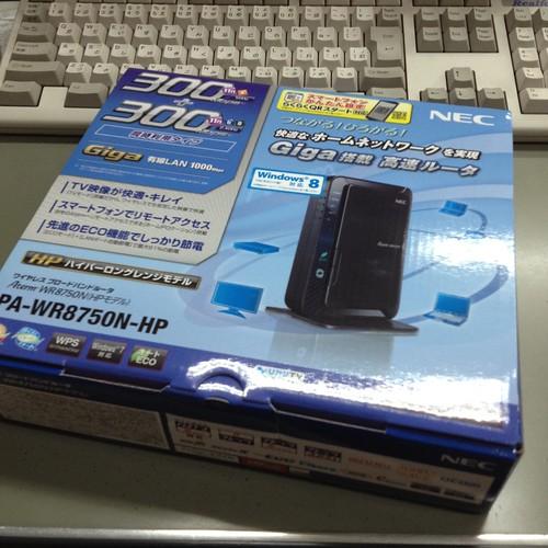 無線LANアクセスポイントをNECのAterm WR8750N に by haruhiko_iyota