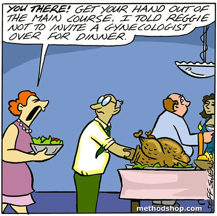 The Gynecologist Dinner Guest [Cartoon]