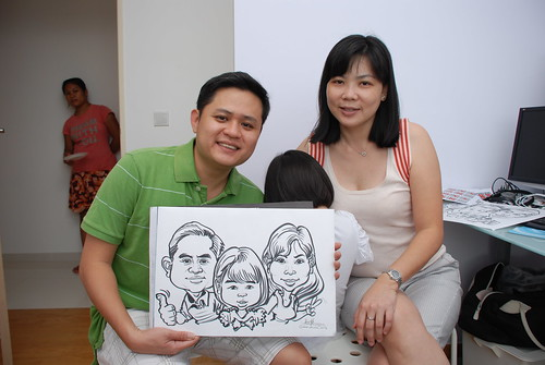 caricature live sketching for birthday party 10032012 - 2