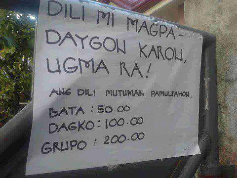 Dili magpa daygon karon photo