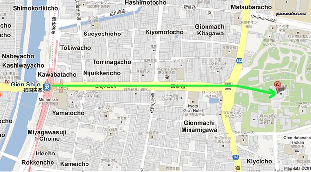 gion city yasaka shrine map