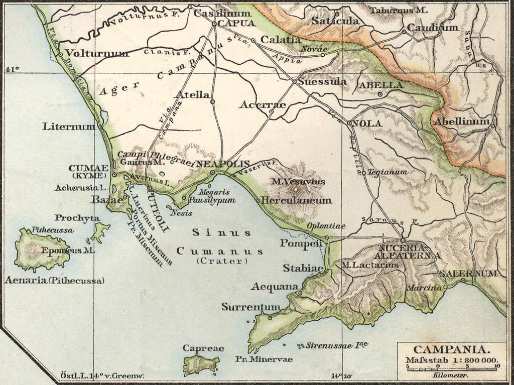 Mappa del Sinus Cumanus con le principali città dell'epoca pubblicata nell'Allgemeiner historischer Handatlas di G.Droysens nel 1886
