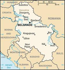 Serbia CIA Map