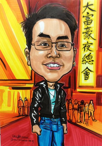 Gangster caricature for Carl Zeiss Singapore