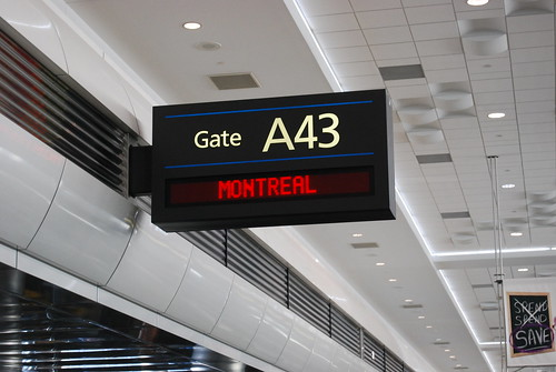 Montreal gate from Denver