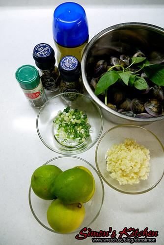 義式檸檬油醋涼拌赤嘴蛤 ~ 電冰箱的灶腳手作DIY教室