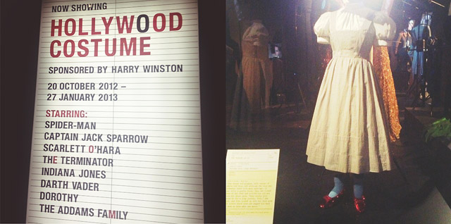 V&a hollywood costume Dorothy's dress exhibit from Wizard of Oz Ruby Slippers