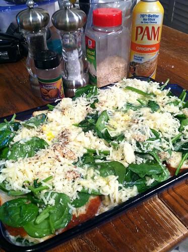 Spinach gruyere strata