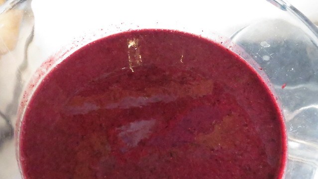 puree of strawberry and blueberry
