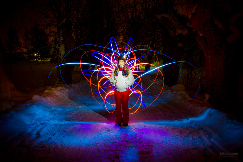 Lightpainting on Christmas