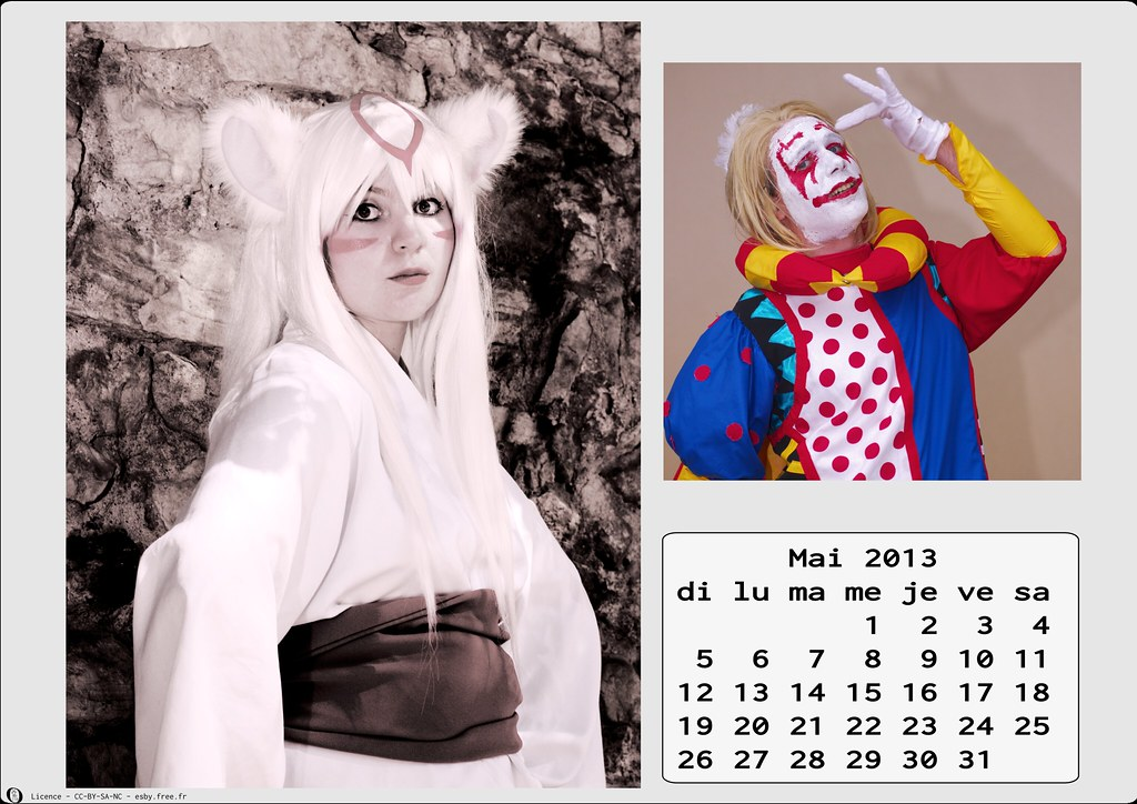 related image - Calendrier Cosplay  2013 - 05 - Mai