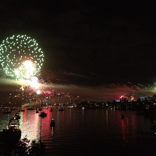 Happy New Year #Sydney! #NYE #2013 #fireworks #nofilter