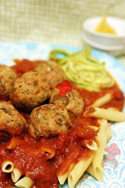 Tuna ball speghetti 鮪魚球義大利麵 1