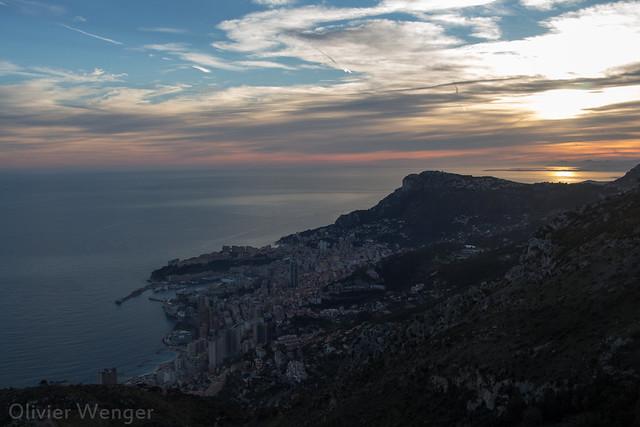 Coucher de soleil sur Monaco