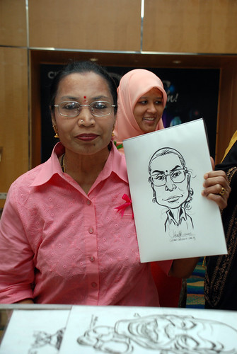 caricature live sketching for Civica Dinner & Dance 2012 - 15