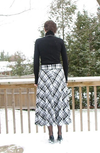McCall's 6438 Black and White Bias-cut Skirt