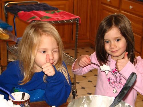 thumbs up on the snow ice cream!