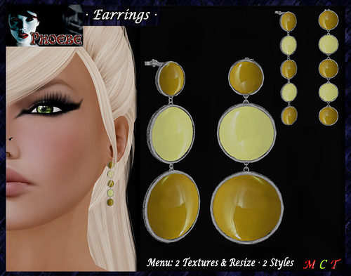 GIFT ~ *P* Moon Earrings ~Sun~