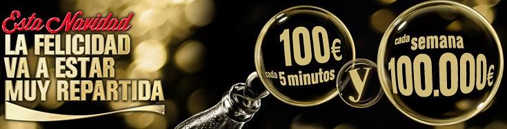 Coca-Cola reparte 100 € cada 5 minutos estas Navidades #quehariascon100euros