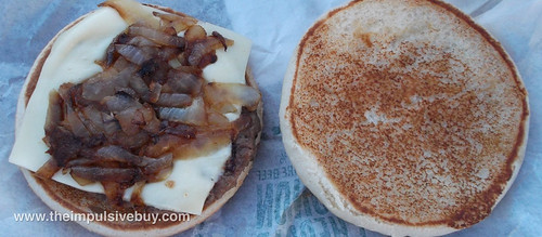 McDonald's Grilled Onion Cheddar Burger Half