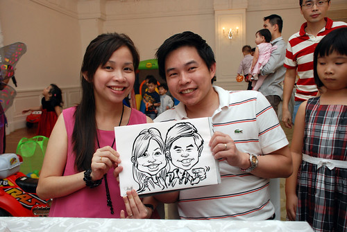 caricature live sketching for birthday party 28042012 - 7