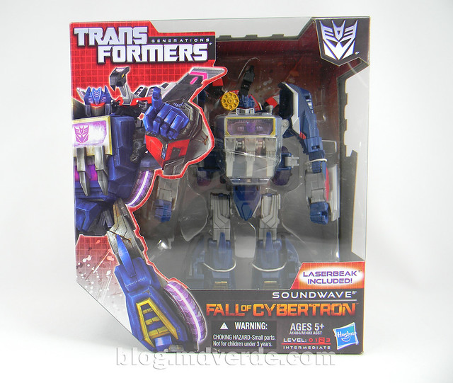 Transformers Soundwave Voyager - Generations Fall of Cybertron - caja
