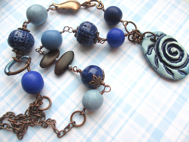 Blue Spiral necklace
