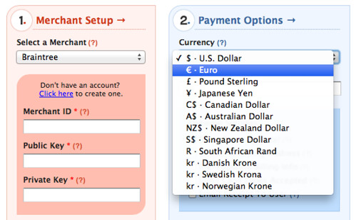 Braintree Internatioal Currency Support