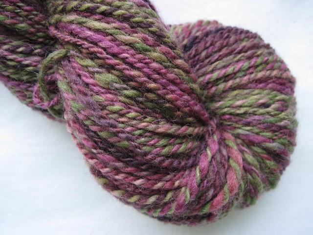 Spotted Elkweed - handspun yarn - shetland wool