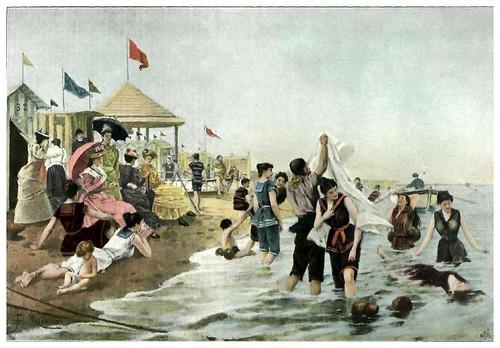 002-Baños de oleaje-Francisco Miralles-Agosto 1898 nº 23-Revista Album Salon - Hemeroteca digital de la Biblioteca Nacional de España