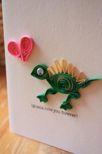 quilled iguana card