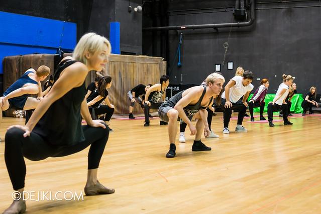 Dancers, warming up
